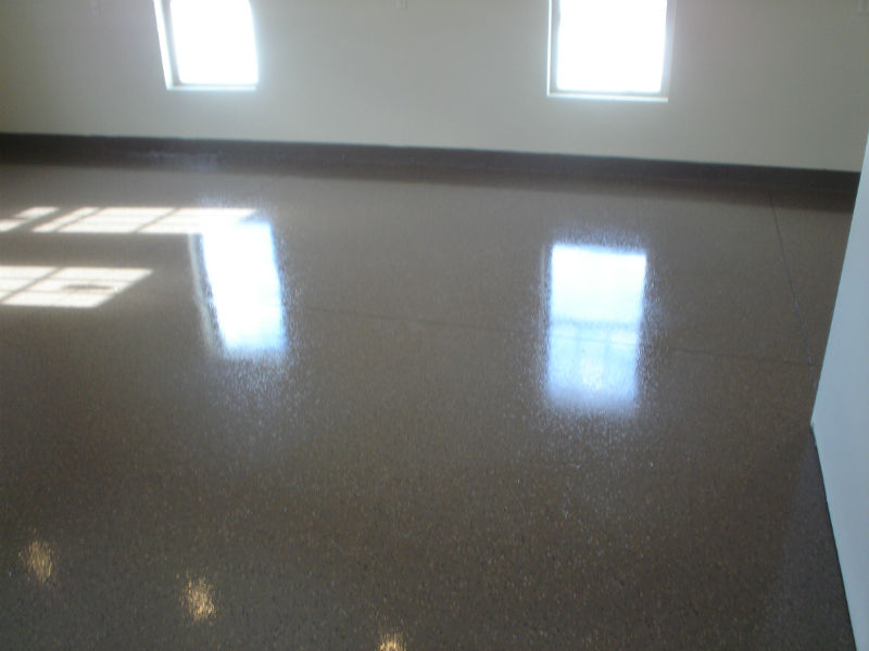 Bozeman Custom Garage Concrete Epoxy Floor Painting