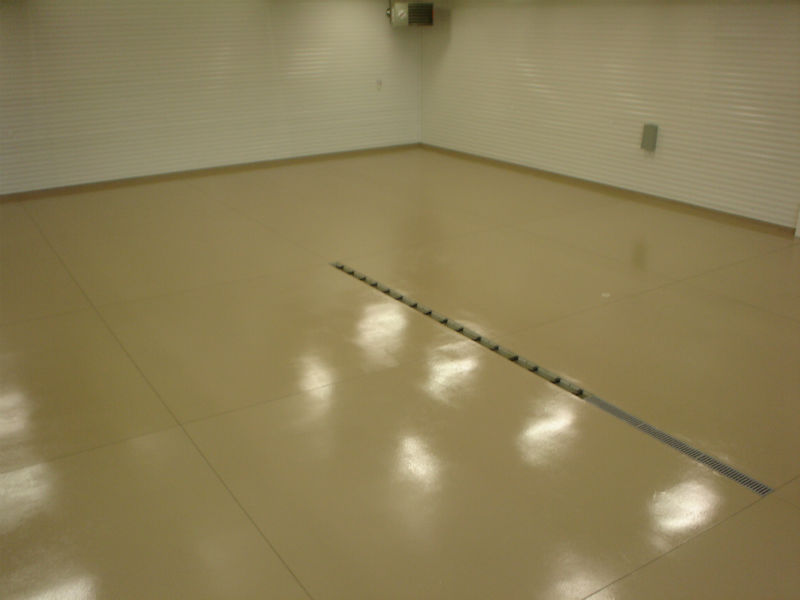 Bozeman Epoxy Concrete Floor Painting Tan Speckled
