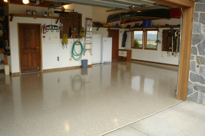 Bozeman Epoxy Floor Painting For Custom Garage Remodel and Finishing