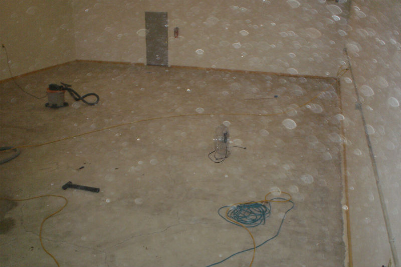 Bozeman Garage Concrete Floor Sanding Grinding and Refinishing