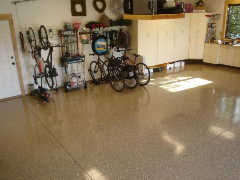 Bozeman Garage Epoxy Floor Painting