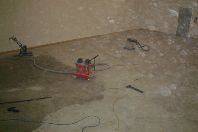 Bozeman Warehouse Concrete Floor Grinding Finishing and Painting